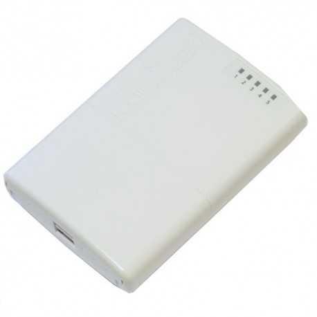 Routerboard de EXTERIOR SIN WIFI, 650MHz, 64MB RAM y x5 puertos 10/100 POE. Level 4