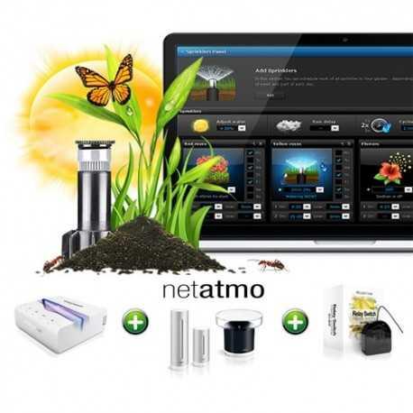Solución de riego automático con central de gestión Fibaro Home Center Lite + interruptor doble 1,5Kw (es necesario tener insta