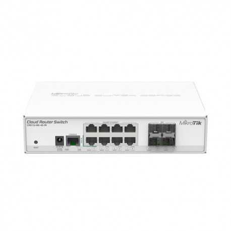 Cloud Router 400Mhz, 128Mb de RAM, x8 puertos Gb, x4 SFP, RouterOS, L5