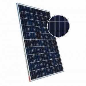 Panel solar policristalino Sharp de 275W. Funcionamiento lineal hasta 25 años.