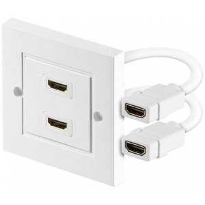 Toma de pared HDMI de 2 entradas y 2 salidas