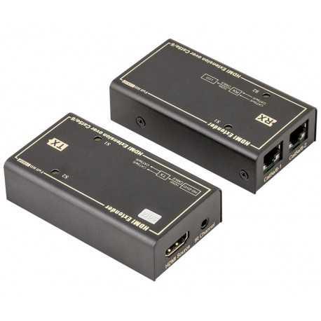 Conversor activo HDMI a 2 RJ45 Cat5/6 UTP/FTP hasta 50m