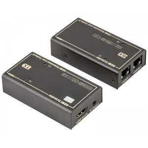 Amplificador / Convertidor de HDMI a Cable de datos (Cat5e, Cat6 hasta 50 metros)