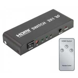 Conmutador HDMI 3 Entradas 1 salida