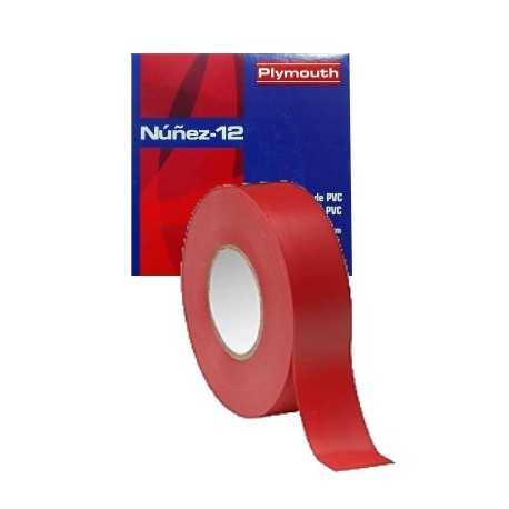 5408 CINTA ROJO. Cinta aislante de alta calidad color rojo de 19 mm x 0,15 mm x 20m. Nuñez 12. Plymouth