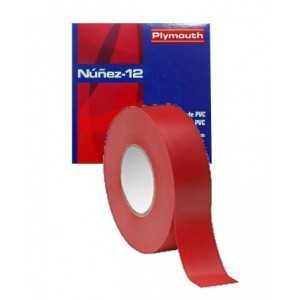 Cinta aislante 19X0,15mm. 20 metros. Alta calidad. Color rojo