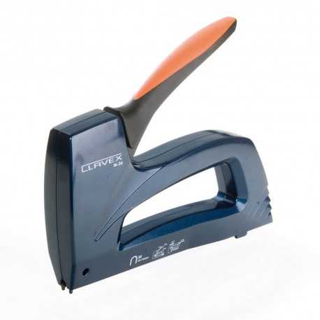 CLAVEX-M28. Grapadora manual metálica para cable telefónico. Medida 28/9.