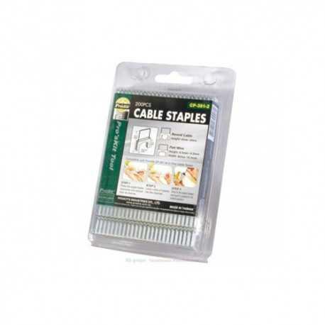 Grapas para cable coaxial cuadrada 10, 6