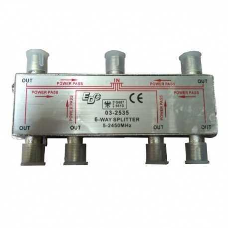 Repartidor 6 vias, 5-2450MHz, EDC.