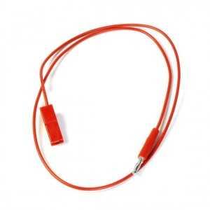 Cable tensión DC 550 mm Faston - Clavija IKUSI (Clavija para adaptación a cabeceras monocanales Ikusi)