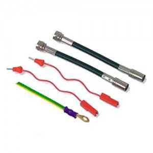 Kit Conexiones RF-DC NEX-DIN 700MM - ALCAD. Compuesto por: 2 cables coaxiales F-IEC, 1 cable para la tensión Faston / Banana, 1