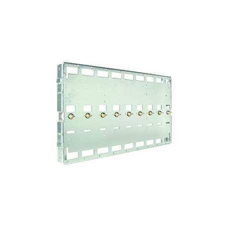 Base soporte con barra de alimentación para mono canales SZB. Capacidad: 1 alimentador + 8 módulos RF o 9 módulos RF