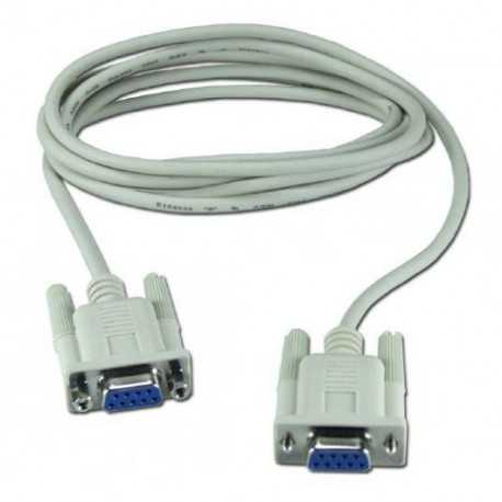 Cable NULL MODEM, DN 9, H-H, 2metros. Te