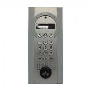 Sistema de videoportero 4G hasta 1000 vecinos con control de acceso por llavero de proximidad.