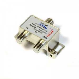 Mezclador interior TV Terr/ TV Sat, pérdidas 2/3db, con paso de corriente