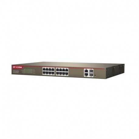 UniFi Switch de 16 puertos GIGABIT, PoE de 24V pasivo y 2 puertos SFP para realizar conexión de fibra.