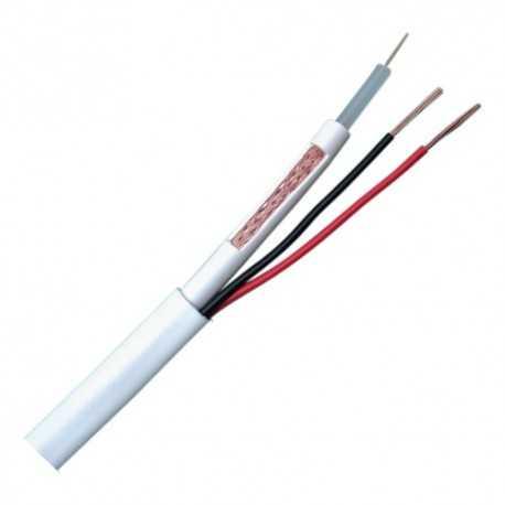 Cable coaxial 9mm, RG-59+ alimentación