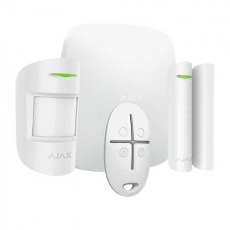 Kit de alarma vía radio: Detector de movimiento PIR inalámbrico, anti-mascotas hasta 12mts, contacto magnético y mando. Grado 2
