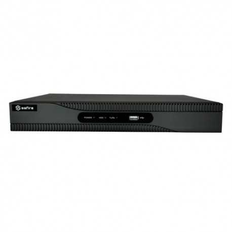 NVR IP hasta 8 canales POE, 8Mpx, 80Mbps, salida HDMI. SAFIRE