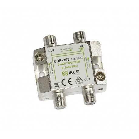 Distribuidor/Repartidor de interior 2300Mhz, 3 salidas con DC PASS