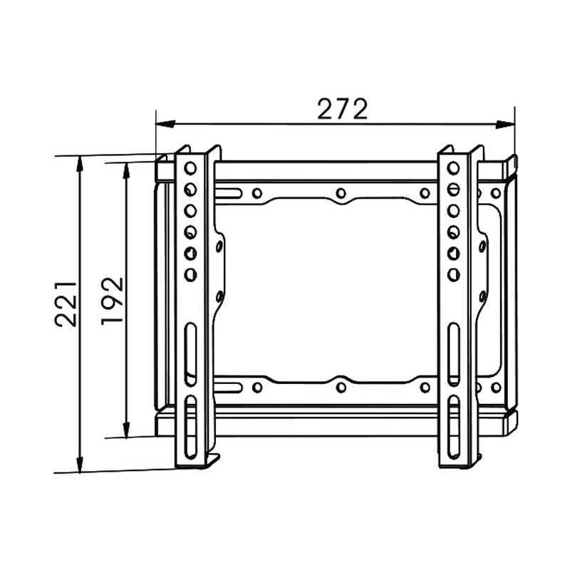 Soporte pared tv 17 42 pulgadas y hasta 20kg 25mm for Soporte vesa 200x200