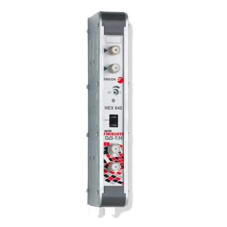 Amplificador Monocanal TDT 53dB, salida 125dBuV, Canal 28 Fagor