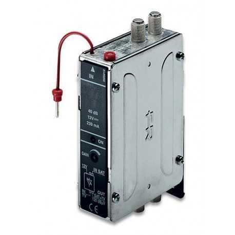 Amplificador monocanal para radio digital DAB, 11dB, 90dBuV, canales adyacentes