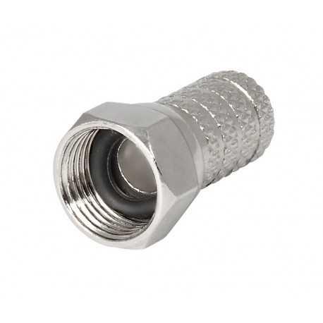 """Conector """"""""F"""""""" de 7mm para cable RG59, coaxial. CON125"""