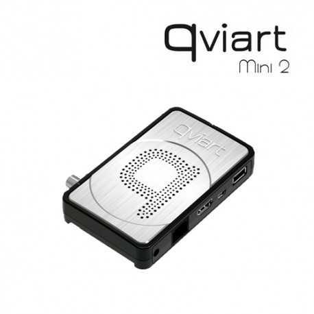 Receptor TV Satélite HD de pequeño tamaño con procesador DUAL CORE. Compatible con IPTV, con 1 lector de tarjetas y 1 puerto US