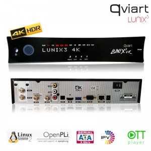 Receptor Linux SAT (S2) Twin Tuner, 4K UHD, H.265, 1 Lector tarjetas, 1 CI, Wifi USB opcional