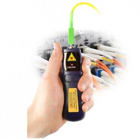 Mini localizador visual de fallos de F.O, adaptador universal de 2.5mm, baterías estándar AAA (x2), Funda incluida