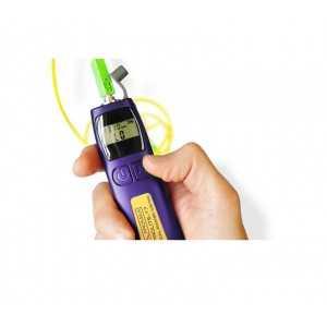 Mini medidor óptico de bolsillo, 850-1625 nm (+10 a -70 dBm), Interfaz universal de 2,5 mm (soporta conectores FC, SC y ST)