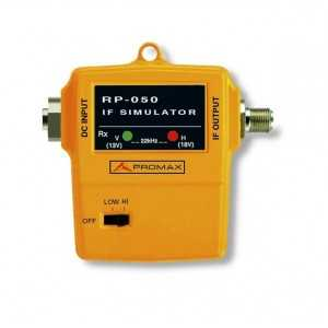 Simulador FI de satélite y UHF para comprobar la respuesta de las instalaciones de ICT