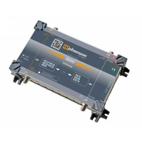Transmodulador autónomo universal TERRESTRE, SATÉLITE, CABLE E IP. JOHANSSON UNIVERSE 8600