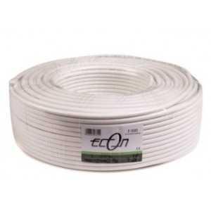 Cable coaxial 29dB a 2150Mhz. 6,8mm. Malla y lámina de alumino. PVC