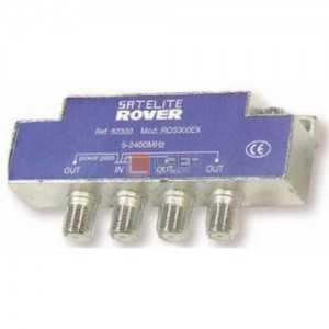 Distribuidor de 4 salidas, blindado. 47-2300 MHz, pérdidas 950-2300 MHz (11dB)