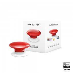 Botón de acción Zwave Rojo. THE BUTTON FGPB-101-3