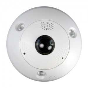 Cámara domo IP 360º 6Mpx, IR 15mts, 1.28mm Fish Eye