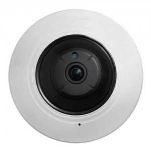 Cáma IP domo 360º, 5Mpx, IR 8mts, 1.05mm Fish Eye, H.265+, interior
