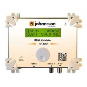 Modulador HD 1080p UHF/VHF, 55-99dB ajustable de salida, Calidad MER 38dB