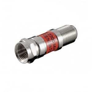 Atenuador SAT 12dB, conectores F. Paso de corriente