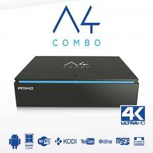 Receptor COMBO HD 4K, Android. AMIKO A4 COMBO 4K Android