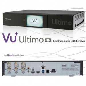 Receptor SAT 4K/3D TV, 1.5GHz Doble nucleo, 4GB Flash, 2 GB RAM. VU+ ULTIMO 4K