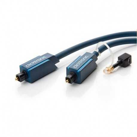 Cable audio óptico digital de 1 mts con conector Toslink/Toslink