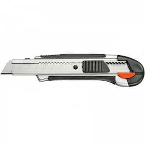 Cúter herramienta de corte profesional, de aluminio y botón de bloqueo