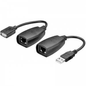 Conversor USB a RJ45 Cat5/Cat6. Hasta 40mts.