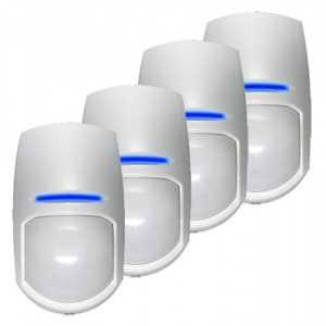 Pack 10 Sensors PIR doble tecnología 15mts Grado 2. PYRONIX