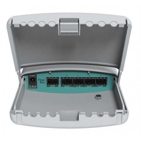 Cloud Router Swtich con WIFI de 600Mhz, 128Mb RAM, 8 puertos Gigabit, 1USB, 1 puerto SFP. Licencia Level 5