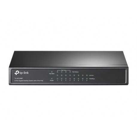 Switch de Sobremesa de 8 puertos Gigabit con 4 puertos PoE. TL-SF1008P