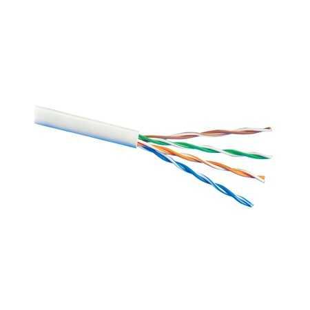 Cable UTP Rigido CAT5e Cobre, Polietileno Blanco, para exterior. Bobinas de 305mts